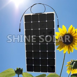 for RV, Marine, Caravan waterproof flexible solar panel 100 watt solar panel