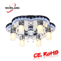 European modern ceiling lights dimmable led glass ceiling lights