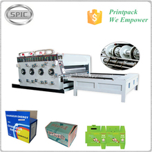 Semi Automatic Flexo cardboard Printing Slotting Machine for sale