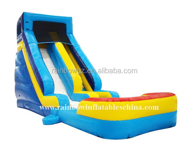 Durable adult inflatable water slide with pool for water park made by China