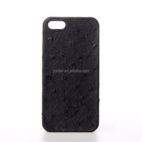 OEM ODM 100% Ostrich Leather Chinese Cell Cover for i Phone5 Case and Covers