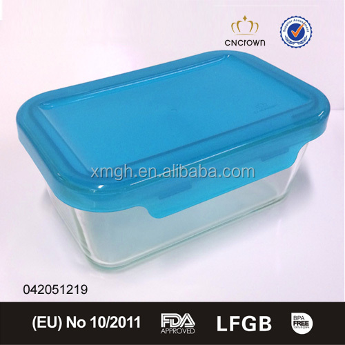 910ml large microwave glass lunch box glass food container with cover
