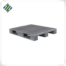 High Quality 3 Skids Grid Single Faced HDPE Steel Reinforced Heavy Duty Plastic Pallet