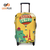 Luckiplus Colorful Travel Suitcase Cover Protective Trolley Case Cover