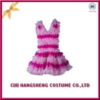 Wholesale cheap white and pink kids party wear dresses for girls
