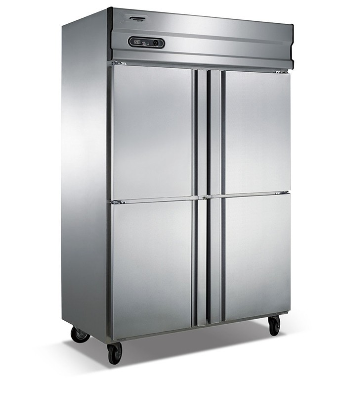 Commercial refrigerator four doors straight cold hidden high cabinets