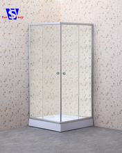 Prefabricated tempered glass enclosed square whole shower room