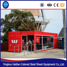 Mobile Pop-Up coffee shop container design 20ft prefabricated food kiosk Container Store
