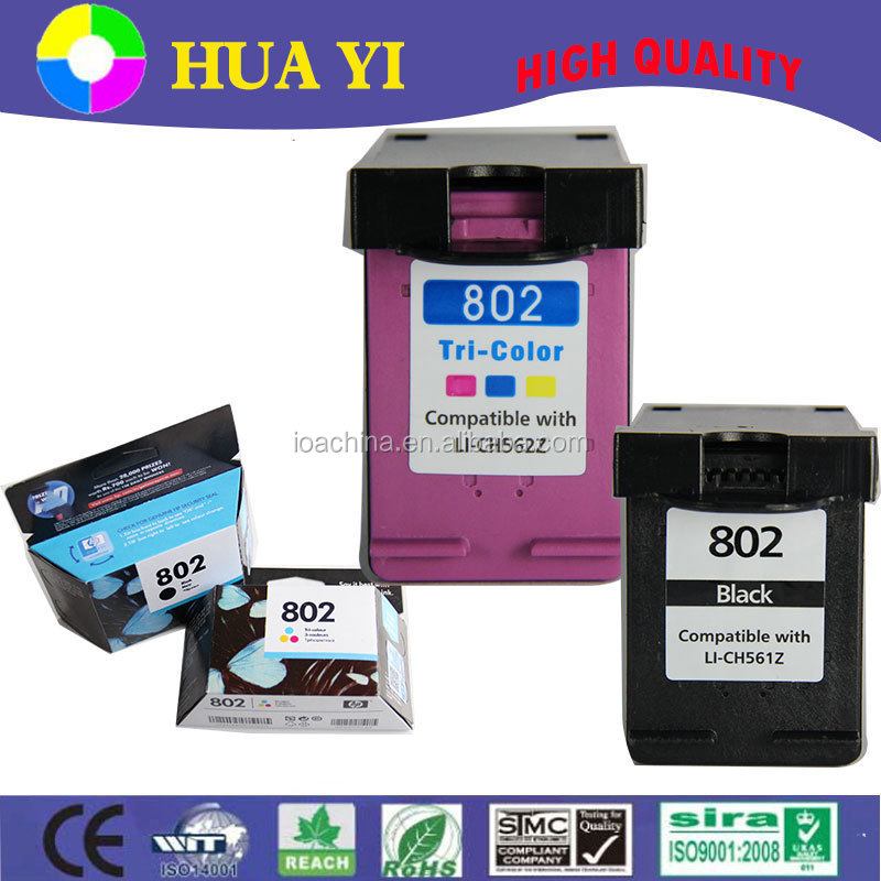 original quality ink cartridge for hp 802