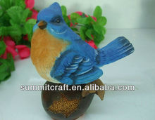 3D 3color custom polyresin standing birds series figurines