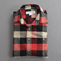 Stylish men's check flannel shirt plaid shirt soft cotton for man