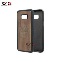 Full Protective TPU Wood Phone Case for Samsung Galaxy S8 for Samsung S8Plus Walnut Wood Silicone Wholesale Cell Phone Case