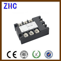 Three Phase DC To AC 3-32VDC To 480VAC 40A Black Solid State Relay / SSR Relay With CE