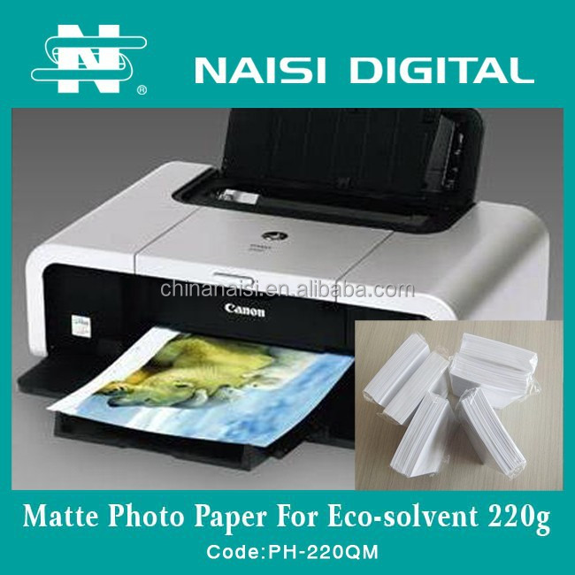 China Manufacturer Matte Inkjet Photo Paper 220gsm for ECO Solvent