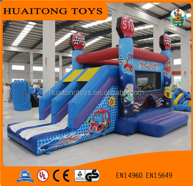 Commercial grade giant cartoon air slide for kids outdoor fun