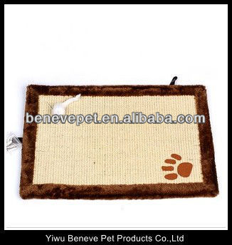 cat toy with plush and sisal cat scratcher