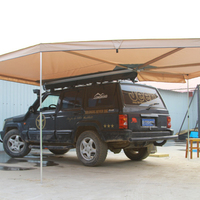 Outdoor camping canvas caravan large space waterproof awning annex