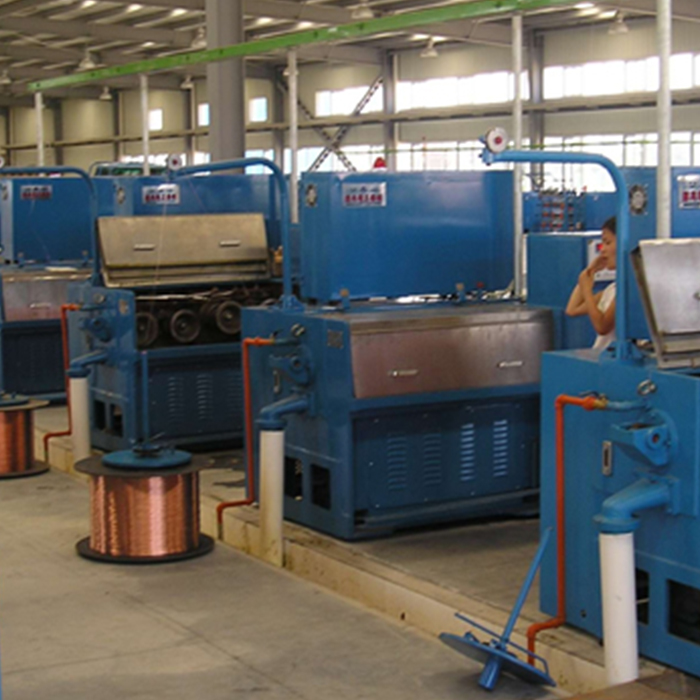 Power Cable Making Machinery Fine Copper Wire Drawing Machine with Annealer