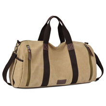 2018 Custom Vintage Canvas Tote Duffel Gym Sports Travel Bag Factory