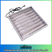 T5 lighting fixtures for grow lettuce fluorescent lamp fittings UL 24W/54W 120V 2ft/4ft 4bulbs 6tube 8tube