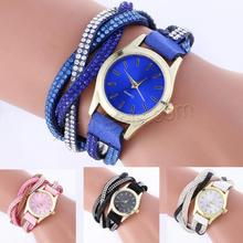 fancy women fashion pu leather wrap watch watches ladies bracelet