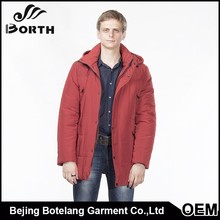Fashion design padded men down coat high quality jacket padded overcoat