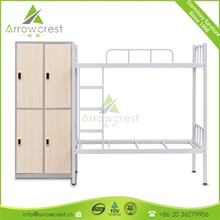Discount commercial school kids dormitory used metal bunk bed dorm furniture