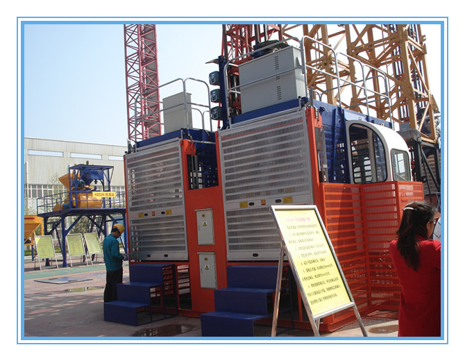 Good Quality Construction Elevator SC200 200 Double Cage