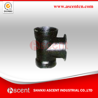 ISO2531 Ductile Iron Double Socket with Flange Branch Tee