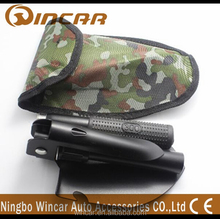 Portable folding mini multifunction Camp Survival shovel with Nylon Camouflage bag