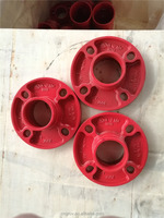 FM /UL Ductile Iron Grooved Fittings grooved flange