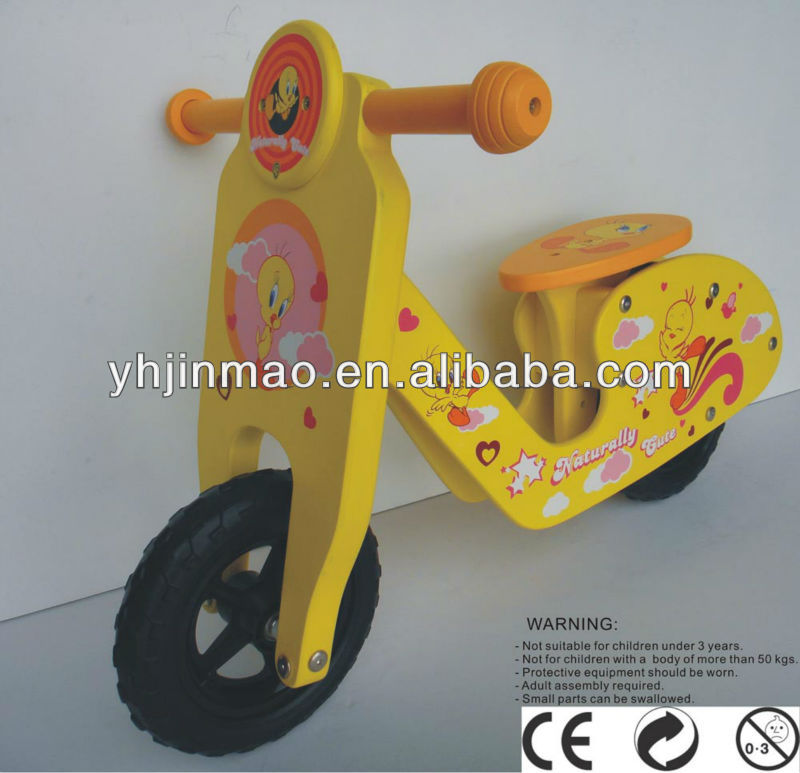 Donald Duck wooden bike babys toy