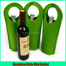 Custom Wool felt wine gift bag,Single wine bottle bag