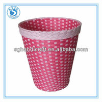 washing room paper rope waste bins low price