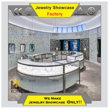 China OEM/ODM Service fashion high end jewelry shop interior design