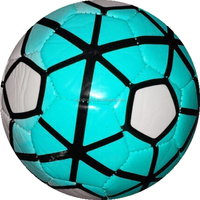 TPU football Leather football JFFB066turquoise blue leather football foamed EVA football promotional gift football