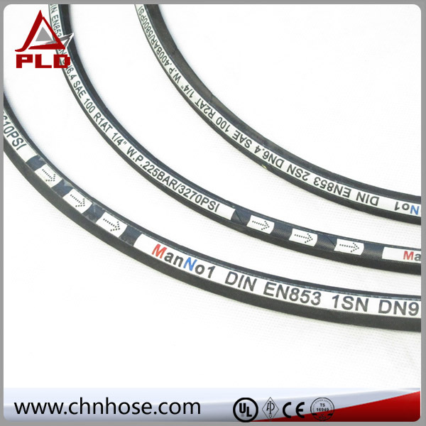 Certificate rubber italy high pressure hydraulic rubber hose size 3/16 to 6 inch for oil
