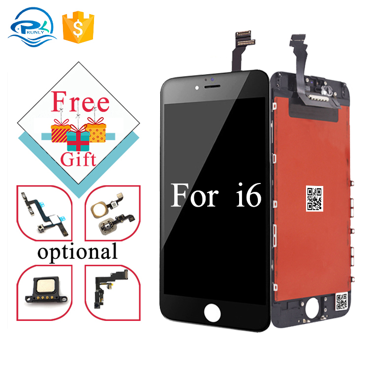 China wholesale mobile screen display with free small spare parts cell phone repair <strong>lcd</strong> for iphone 6