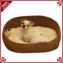 SD wholesale Fancy oval shape pe rattan woven for all season pet cat bed furniture dog cave