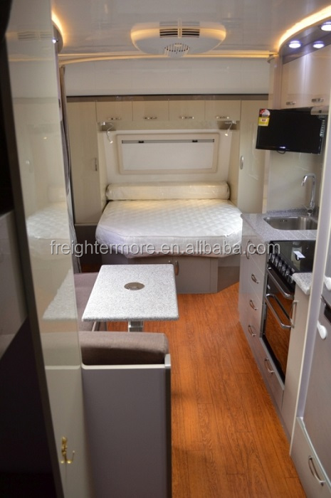HOT luxury travel trailer for sale, caravan, RV, wood grain finish&modern glossy for option