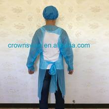 cpe disposable dark blue surgical gown/sterile disposable cpe surgical gowns/disposable cpe protective gown