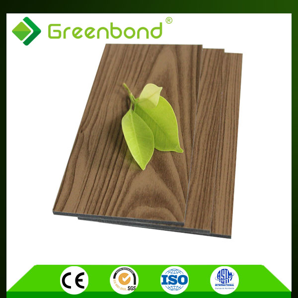 Greenbond wooden design aluminum acoustic ceiling panels