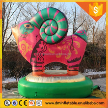 12 Chinese zodiac giant inflatable sheep cartoon for advertising decoration --- lenadiao