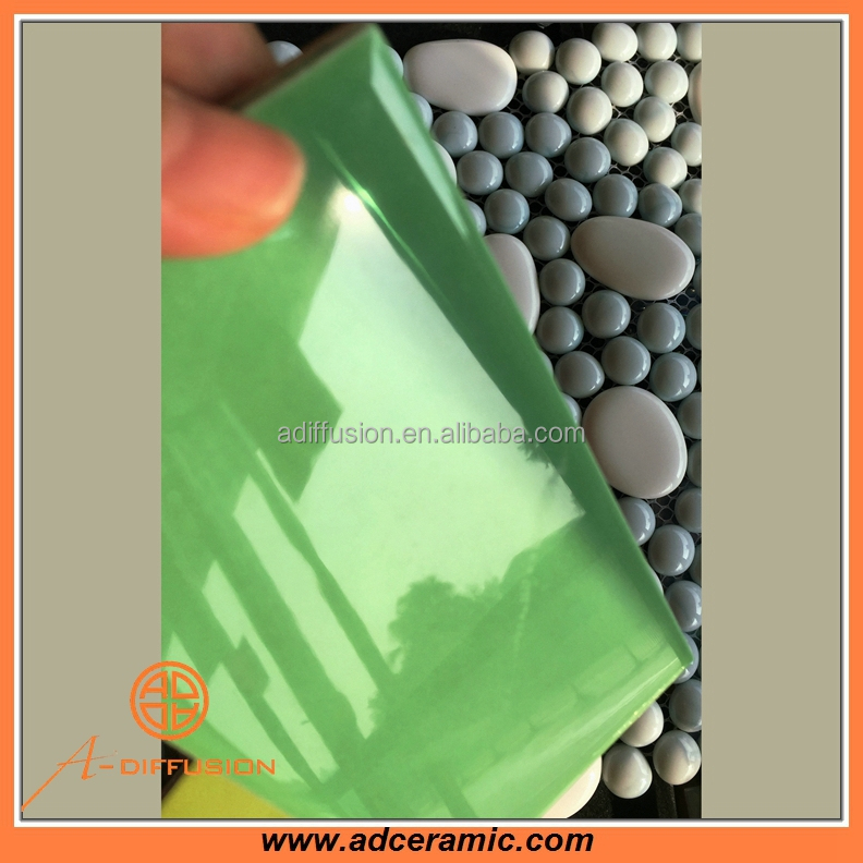 green ceramic bathroom tile designs for wall