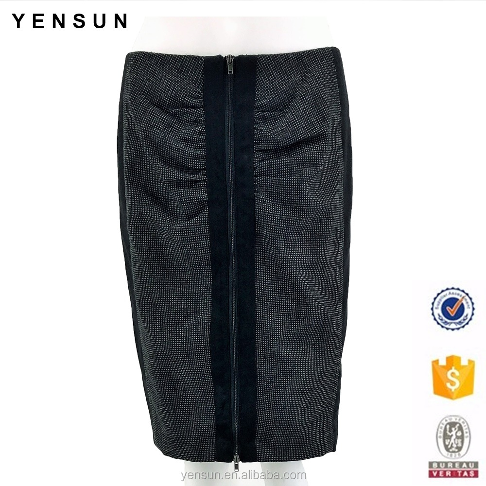 Ladies Winter Autumn Formal Work Wear Career Pancil Skirt for Women
