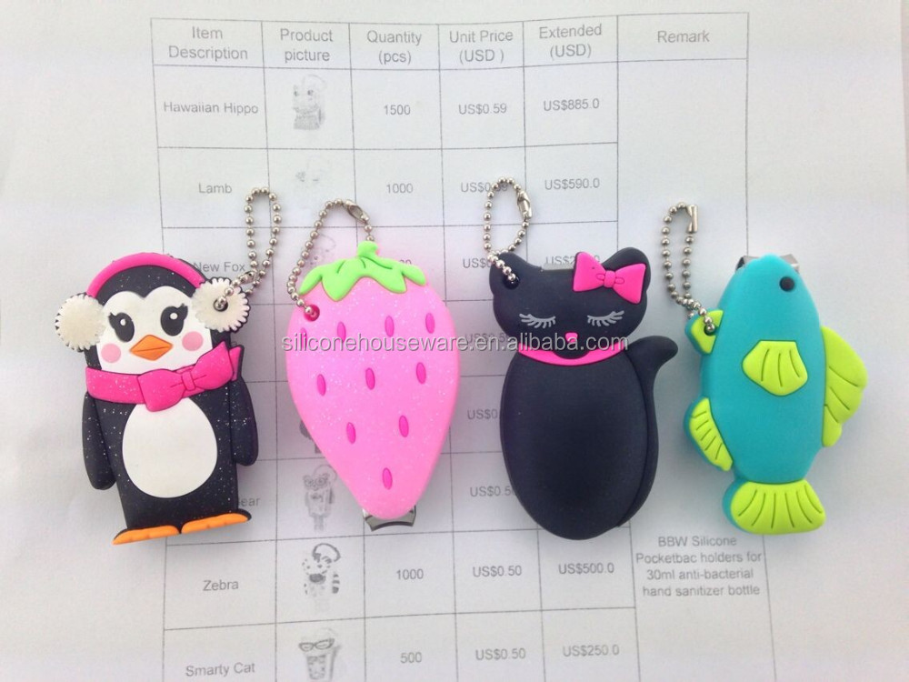 Promotional Original Cute BBW Pink Owl Nail Clippers