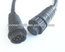 8-Wire Quick Lock Waterproof Cable Connector