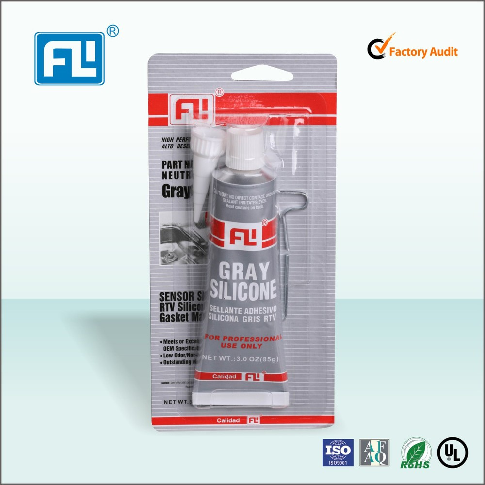 Neutral High temperature resisitant grey RTV SILICONE for Car