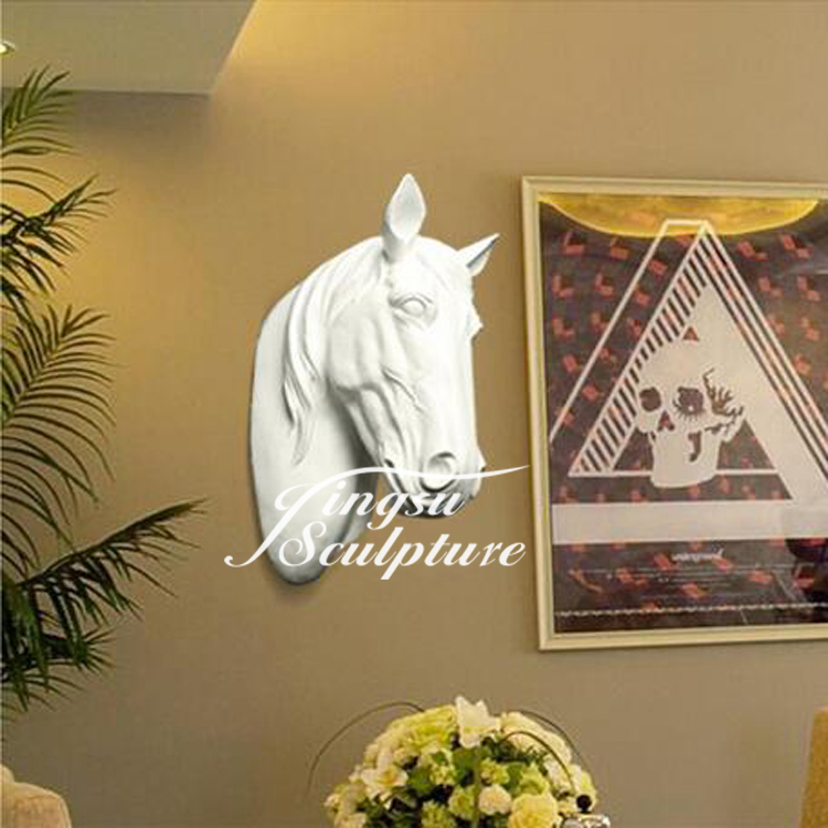 Beautiful design of resin customized horse head sculpture
