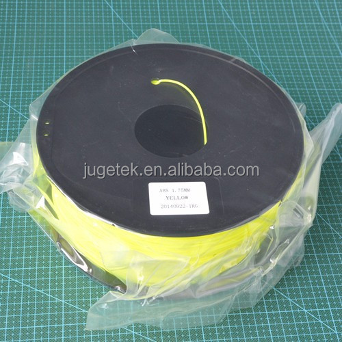 3D Printer <strong>ABS</strong> Filament 1.75 in Yellow color 1kg